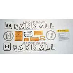 Mylar Decal Set For Farmall H Tractors