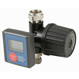 Digital Spray Paint Gun Air Pressure Regulator Gauge