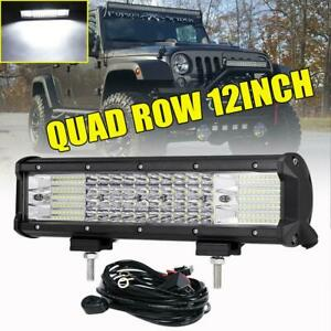 Quad Row 12inch 1128w Cree Led Work Light Bar Combo Offroad Car Pickup Atv 14
