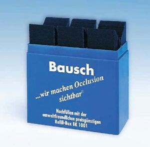 Bausch Articulating Paper Blue Color 300 Strips Bk 01 4 Packs