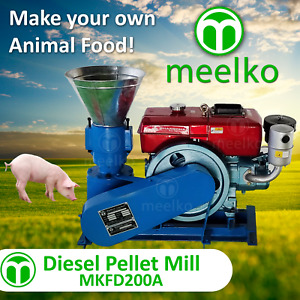 Pellet Mill 15hp Diesel Engine Pellet In Stocked Usa 6mm Pork