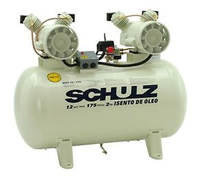 Schulz Compressor Oil Free 2hp 30 Gallons