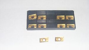 New 10pcs Apkt 1604 Pdr hm Tin Coated Carbide Inserts
