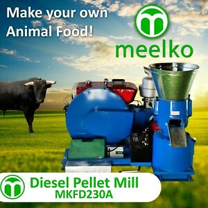 Pellet Mill 15hp Diesel Engine Pellet In Stocked Usa 8mm Livestock