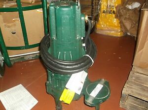 New Zoeller Submersible Sewage Pump E295 2hp 1 ph 3450rpm 4nw26 wh 33c