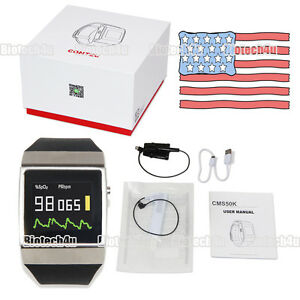 Contec New Product smart Watches wireless Bluetooth Spo2 Monitor cms50k