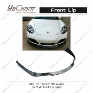 Carbon Fiber Splitter Fit For 2009 2012 Porsche 987 Cayman Ta style Front Lip