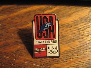 Coca Cola Olympics Pin - Coke Soda USA Track & Field Olympics Team Lapel Hat Pin