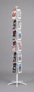 New Greeting Card Map Display Spinner Rack 24 Pockets Retail Store Fixture White
