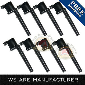 New 8 Pack Ignition Coils For Various Lincoln Ford Gt Mustang Dg512 C1141 Uf191