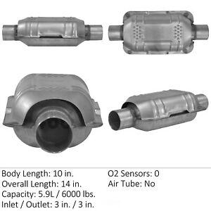Catalytic Converter universal Rear front Eastern Mfg 70330