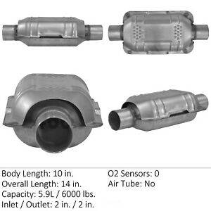 Catalytic Converter universal Rear front Right Eastern Mfg 83164