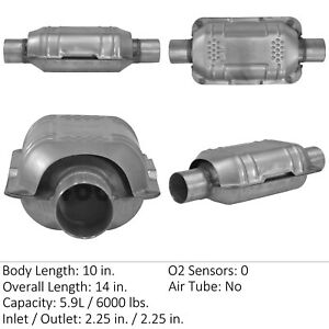 Catalytic Converter universal Rear right Eastern Mfg 83165