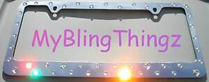 Xlg Crystals Bling Rhinestone License Plate Frame Made With Swarovski Elements