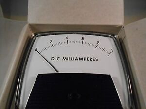 50 250400fafa Dc Milliamperes 0 1 Meter New Old Stock 4 3 4