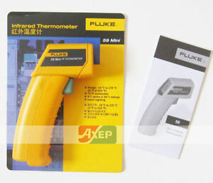 Fluke 59 Mini Handheld Infrared Thermometer Temperature Laser Option Softcase