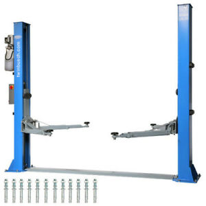 2 Post Lift 9200lbs Twin Busch Auto Lift Tw 242 E Automatic Unlocking