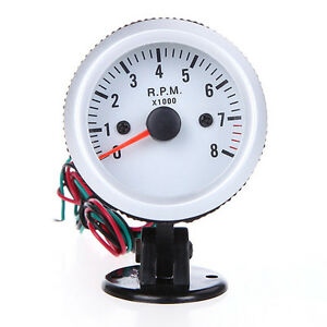 2inch 52mm Tach Gauge With Holder Cup For Auto Car 0 8000rpm Blue Led Light