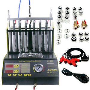 Autool Ct200 Car motorcycle Ultrasonic Petrol Injector Cleaner Tester 110v Us