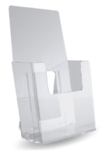 50 Clear Acrylic Trifold Literature Brochure Holder Display Stand 4 Wide