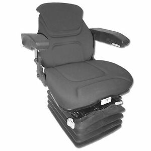Deluxe Air Ride Seat And Suspension Black Fabric For Many Makes And Models