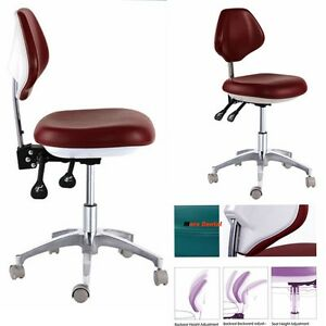 Dental Medical Dentist s Stools Mobile Chair Movable Doctor s Stools Pu Leather