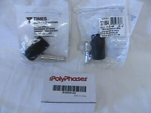 1 New Polyphaser Is 50nx c2 Surge Arrestor With 2 419089 And 2 371964 Male Conn