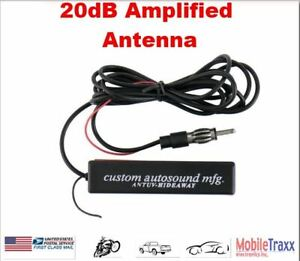20 Db 12v Tv Am Fm Audio Amplified Antenna Built In Booster