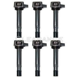Uf400 Set Of 6 Ignition Coils On Plug Pack For Honda Civic Acura Mdx 1 7l 3 5l