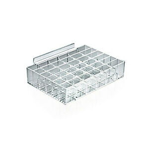 New Retails Clear Acrylic Thirty six Compartment Display Tray 7 125 wx5 dx1 5 h