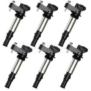 Set Of 6 Ignition Coils On Plug Pack For Cadillac Srx Cts Sts Gmc Acadia Uf375