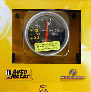 Auto Meter 3403 Ultra Lite Vacuum Boost Mechanical Gauge 2 5 8 30 In hg 30 Psi