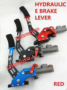 Red Hydraulic Horizontal Racing Drift Rally Hand E Brake Parking Handbrake Lever