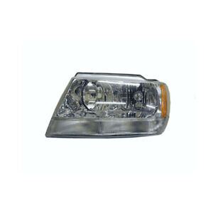 Jeep Grand Cherokee Wj Wg 1999 2005 Headlight Chrome Halogen Type Left