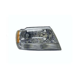 Jeep Grand Cherokee Wj Wg 1999 2005 Headlight Chrome Halogen Type Right