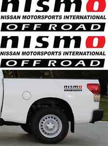 Nismo Offroad Truck 4x4 Decals Sticker Decal 3m Vinyl 4 x14 Color Black Red