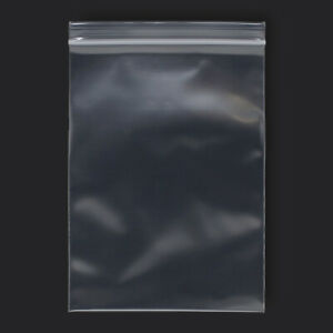 100 Pack 5 X 7 Reclosable Clear Plastic Poly Zipper Bags 4 Mil Heavy Duty