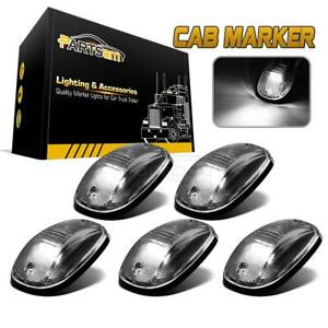 5 Cab Clearance Marker Clear Lights W White 9 Led Assembly For Dodge Ram 03 18