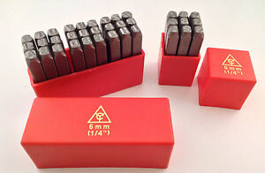 36pc 1 4 6mm Letter Number Stamp Punch Set Hardened Steel Metal Wood Leather