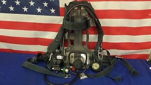 Survivair 4 5 High Pressure Scba Pack 1997 Edition With 2020 Face Mask