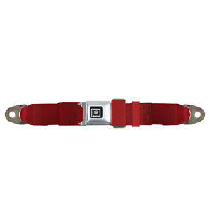 Gm Replacement Lap Seat Belt 60 Metal W Gm Push Button Red