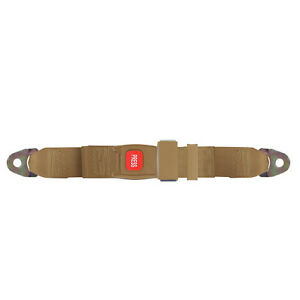 Replacement 2 Point Lap Seat Belt Push Button Release 74 Inch Tan