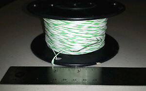 500 Ft Spool M16878 4bfe95 24awg Green White Cable Wire 600v 19 36 Strand
