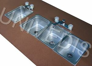 Concession Sink Stand Three 3 Compartment W Hand New