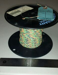 359 Ft Spool M22759 11 24 9035 24awg Black orange green white Cable Wire 19s 36