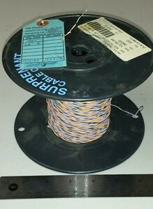334 Ft Spool M22759 11 24 9037 24awg Black orange violet white Cable Wire 19s 36