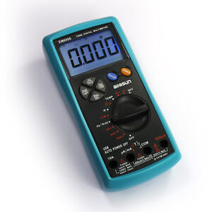 Digital True Rms Multimeter Dc Ac Electric Tester Large Lcd Back Light Display