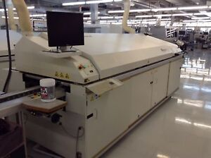Btu Industries Pyramax 98 7 zone Pcb Re flow Oven 440vac New 2006