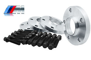 4 Bmw Wheel Spacers Staggered Kit 2 15mm 2 20mm 5x120 W 20 Black Bolts