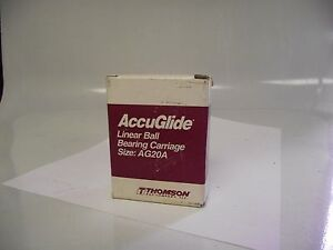 Thomson Accuglide Cg20aabn Ball Retained Linear Bearing Block 3 X 2 1 2 X 1